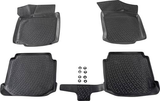 Fußmatte (fahrzeugspezifisch) Volkswagen CC TPE (Geruchneutrales Spezialgummigemisch) Schwarz DINO 136082
