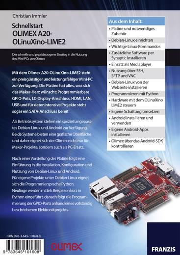 Schnellstart mit dem OLIMEX A20-OLinuXino-LIME2 - schnelleinstieg booklet Conrad Components 978-3-645-10160-8