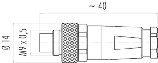 Binder 99-0413-10-05 Rundstecker Stecker, gerade Serie (Rundsteckverbinder): 712 Gesamtpolzahl: 5 20 St.
