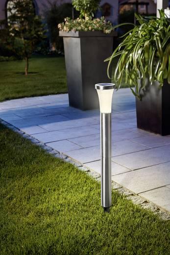 esotec solar gartenleuchte tower light 102603 led warm wei edelstahl. Black Bedroom Furniture Sets. Home Design Ideas