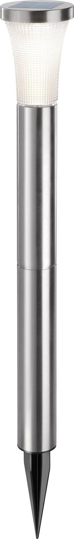 LED zahradní solární svítidlo Esotec Tower Light 102603, IP44, nerezová ocel, teplá bílá