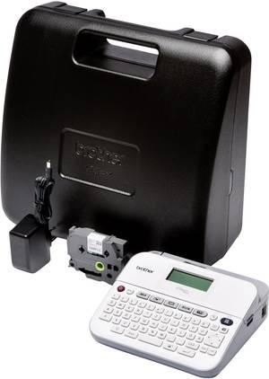 Schriftband 6mm ROT-WEIß für BROTHER P-Touch D400VP