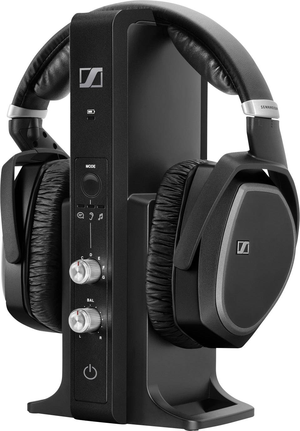 sennheiser rs 195 funk kopfh rer over ear lautst rkeregelung schwarz kaufen conrad electronic. Black Bedroom Furniture Sets. Home Design Ideas