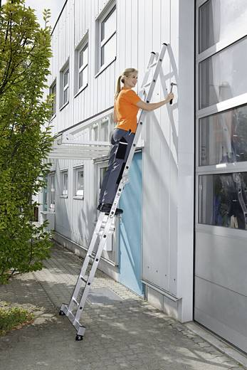 aluminium klappleiter inkl traverse arbeitsh he max 4 7 m g nzburger steigtechnik 32212. Black Bedroom Furniture Sets. Home Design Ideas