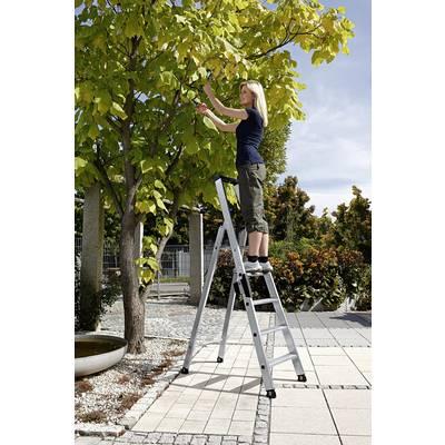 Günzburger Steigtechnik 40105 Aluminium Stufen-Stehleiter Arbeitshöhe (max.): 3.25 m Silbe Preisvergleich