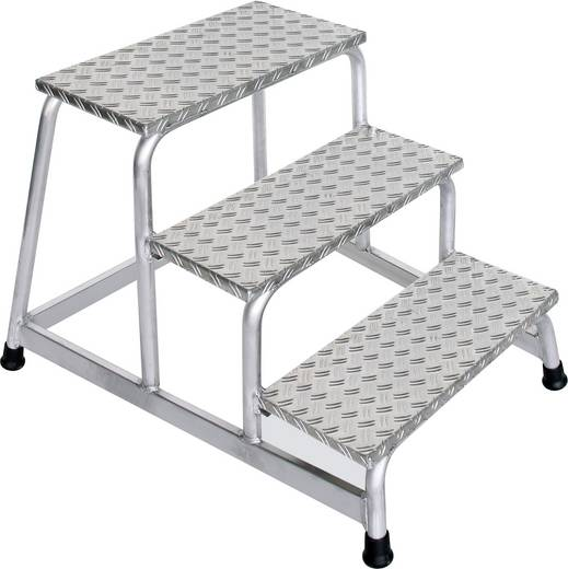 aluminium treppe arbeitsh he max 2 6 m g nzburger steigtechnik 50009 silber 8 5 kg kaufen. Black Bedroom Furniture Sets. Home Design Ideas