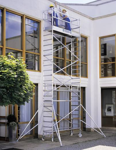 aluminium ger st fahrbar inkl 4 verstellbaren auslegern arbeitsh he max 11 4 m g nzburger. Black Bedroom Furniture Sets. Home Design Ideas