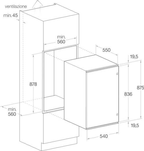 HotPoint BSZ 1632 EU Kühlschrank 126 l Energieeffizienzklasse (A+++ ...