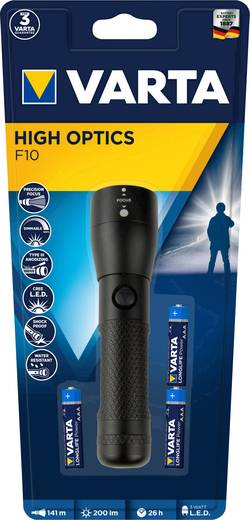 varta high optic lights 3aaa led taschenlampe mit handschlaufe batteriebetrieben 200 lm 26 h 122. Black Bedroom Furniture Sets. Home Design Ideas