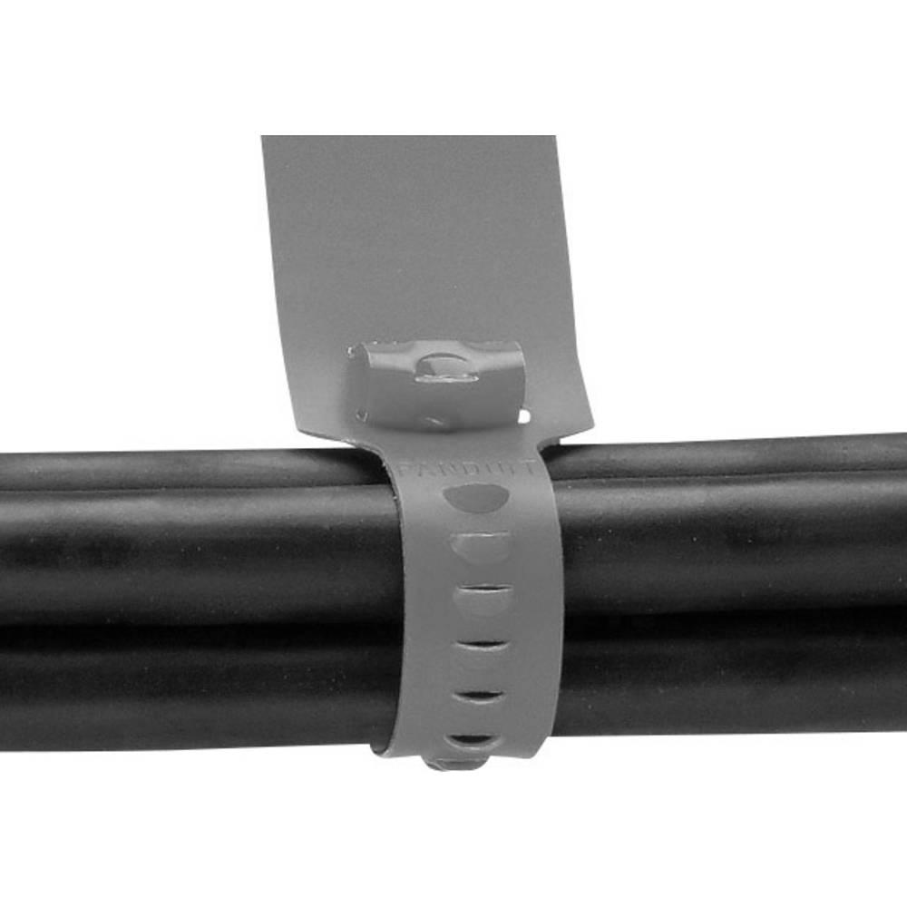 kabelbinder grau mit beschriftungsfeld mit offenem binderende panduit cm4s l8 cm4s l8 1 st im. Black Bedroom Furniture Sets. Home Design Ideas