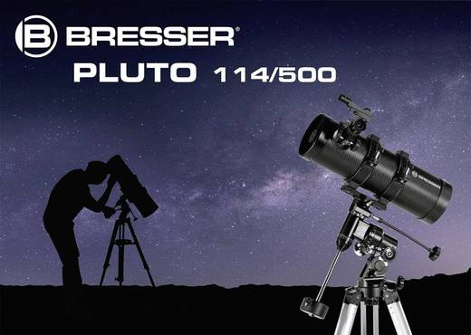 Bresser optik pluto 114 500 eq spiegel teleskop Äquatorial newton