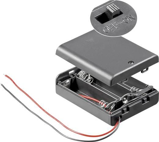 Batteriebox 3x Mignon (AA) Kabel (L x B x H) 68.5 x 48 x 18.7 mm Goobay 12445