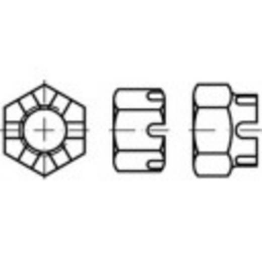 Kronenmuttern M38 DIN 935 Stahl 1 St. TOOLCRAFT 132161
