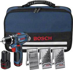 Perceuse-visseuse sans fil Bosch Professional GSR12V-15 Li-Ion 12 V 1.5 Ah + 2 batteries, accessoires et sacoche