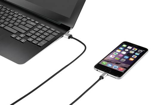 Renkforce Apple Lightning Anschlusskabel für Apple iPod/iPad/iPhone 0,5 m