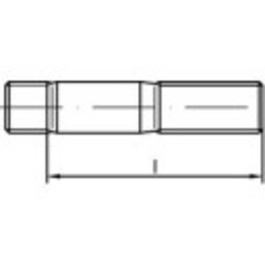 TOOLCRAFT 132684 Stiftschrauben M20 80 mm DIN 938 Stahl galvanisch verzinkt 10 St.