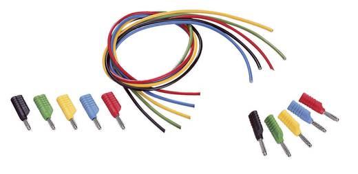 Messleitungs-Set [ Lamellenstecker 4 mm - Lamellenstecker 4 mm] 1 m Schwarz, Rot, Blau, Gelb, Grün VOLTCRAFT MS-4041