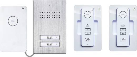 t rsprechanlage funk komplett set m e modern electronics ac 120 2 familienhaus edelstahl wei. Black Bedroom Furniture Sets. Home Design Ideas