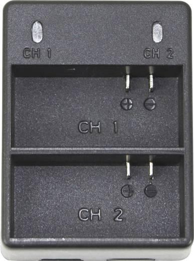 Dual-Ladegerät DCGP4 Passend für=GoPro Hero 4, GoPro Hero 4 Silver