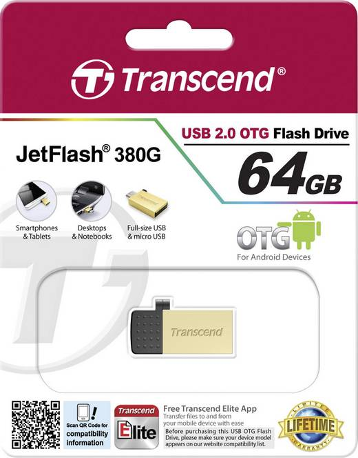 Transcend JetFlash 380, Stick to Your Smartphone Android