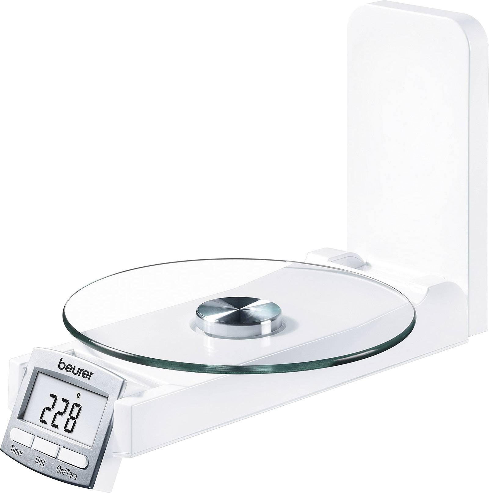 Beurer KS 52 Küchenwaage digital max. =5kg Wei mit Wandbefestigung Wägebereich