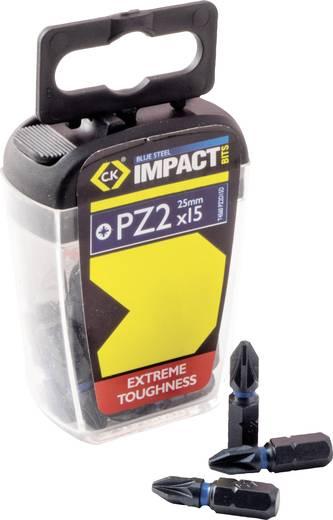 Bit-Set 15teilig C.K. T4560 PZ2D15 Kreuzschlitz Pozidriv Torsion Control Technologie