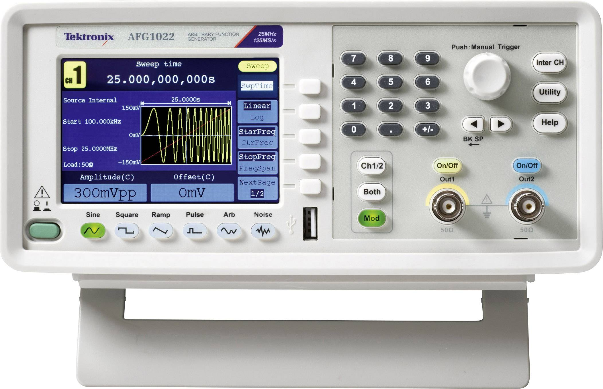Rigol DG1022Z Funktionsgenerator netzbetrieben 1 /µHz Dreieck Raus Rechteck 25MHz 2-Kanal Sinus