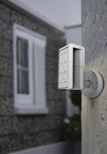 ECO-Light Club 6190 gr LED-Außenstrahler 24 W Kalt-Weiß Anthrazit