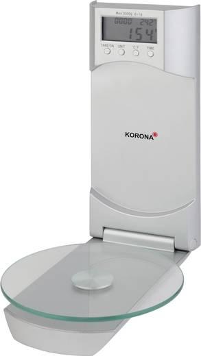 Korona Wanda Küchenwaage digital, mit Wandbefestigung Wägebereich (max.)=3 kg Silber