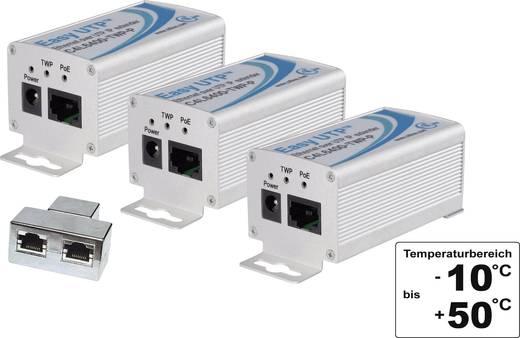 3-er Set Netzwerkverlängerung Renkforce 2-Draht Reichweite (max.): 500 m mit PoE-Funktion 100 MBit/s