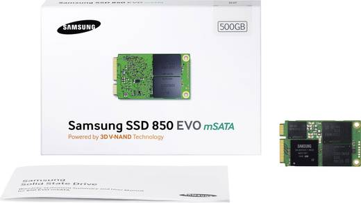 Samsung MZ-M5E500BW Interne mSATA SSD 500 GB 850 Evo Retail mSATA