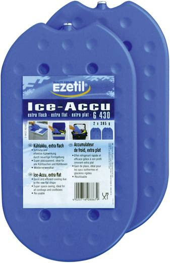 Kühlakkus Ezetil IceAkku G430 2x385g 886720 1 Paar (L x B x H) 27 x 2.3 x 15.5 cm