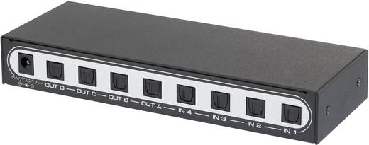 4x4 Port Toslink-Matrix-Switch SpeaKa Professional 29063C14 mit Fernbedienung
