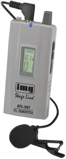 IMG Stage Line ATS-50T, 40-Kanal-PLL-Sender für Mikrofonbetrieb und Audio-Line-Signale