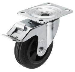 Plastové koliesko s parkovacou brzdou Monacor GCB-100B, Ø kolesa 100 mm, Nosnosť (max.): 70 kg, 1 ks