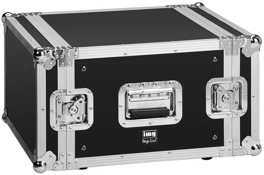 IMG STAGELINE MR-406 19 Zoll Rack 6 HE Holz inkl. Griff