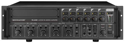 ELA-Verstärker Monacor PA-6480 480 W 6-Zonen