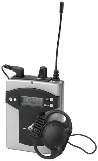 Headset Mikrofon-Empfänger Monacor TXA-800R Übertragungsart:Funk, Kabellos Metallgehäuse, Schalter