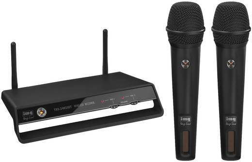 Funkmikrofon-Set IMG STAGELINE TXS-2402SET Übertragungsart:Funk Schalter