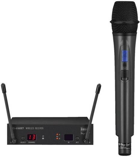 Funkmikrofon-Set IMG STAGELINE TXS-616SET Übertragungsart:Funk Metallgehäuse, Schalter