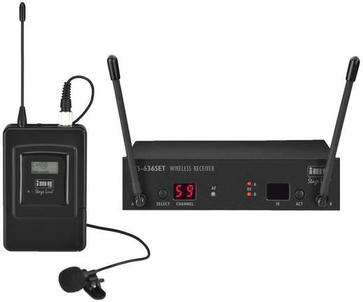 Ansteck Funkmikrofon-Set IMG STAGELINE TXS-636SET Übertragungsart:Funk Schalter, Metallgehäuse
