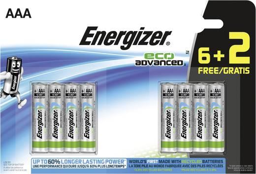 Micro (AAA)-Batterie Alkali-Mangan Energizer Eco Advanced LR03, 6+2 gratis 1.5 V 8 St.