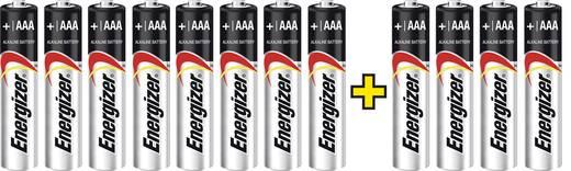 Micro (AAA)-Batterie Alkali-Mangan Energizer Max LR03, 8+4 gratis 1.5 V 12 St.