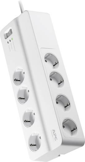 APC by Schneider Electric PM8-GR Überspannungsschutz-Steckdosenleiste 8fach Weiß Schutzkontakt