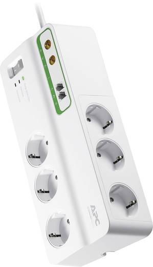 APC by Schneider Electric PMH63VT-GR Überspannungsschutz-Steckdosenleiste 6fach Weiß Schutzkontakt