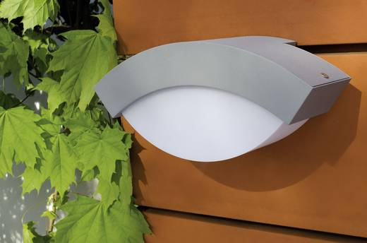ECO-Light Geometry 2146 si Außenwandleuchte Energiesparlampe, LED E27 13 W Silber