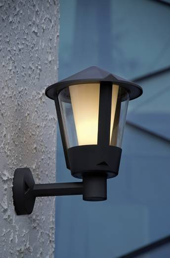 Außenwandleuchte Energiesparlampe, LED E27 23 W ECO-Light Horn 1251S gr Anthrazit
