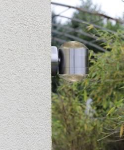 Venkovní nástěnné LED osvětlení ECO-Light Crystal ST5212, 10 W, teplá bílá, nerezová ocel