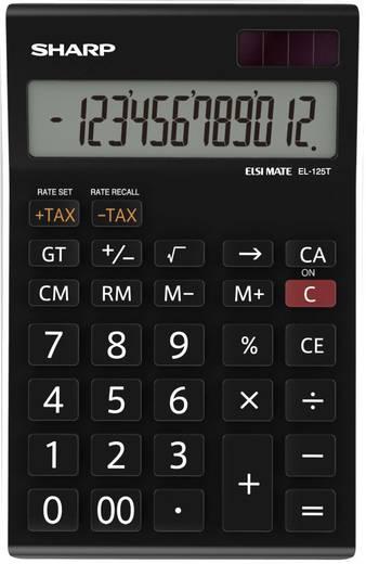 Tischrechner Sharp EL-125T Schwarz Display (Stellen): 12 solarbetrieben, batteriebetrieben (B x H x T) 112 x 13 x 176 mm