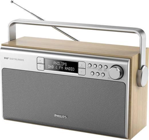 DAB+ Kofferradio Philips AE5220 DAB+, UKW Silber, Holz